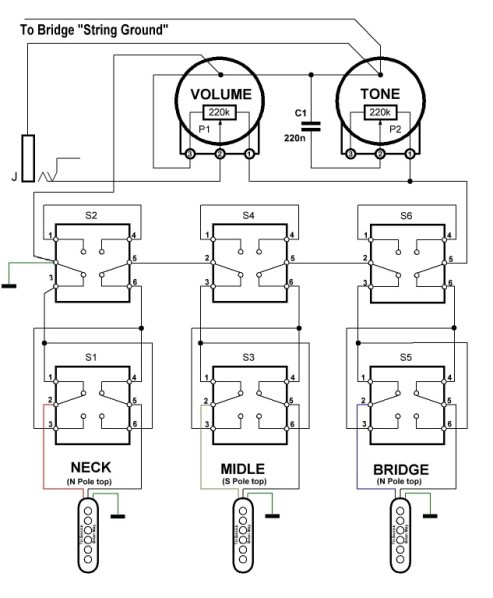 [DIAGRAM_38ZD]  Wiring | Red Special Library | Brian May Guitar Wiring Diagram |  | Red Special Library